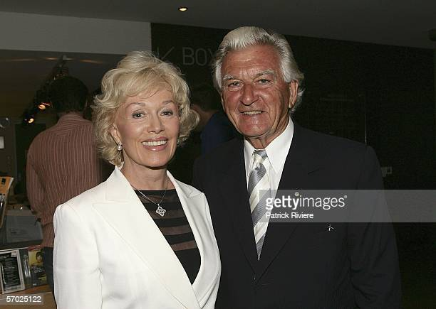 Former Australian Prime Minister Bob Hawke and his wife Blanche D'Alpuget attend the opening night of The Death and Life of John Lennon at the Parade...