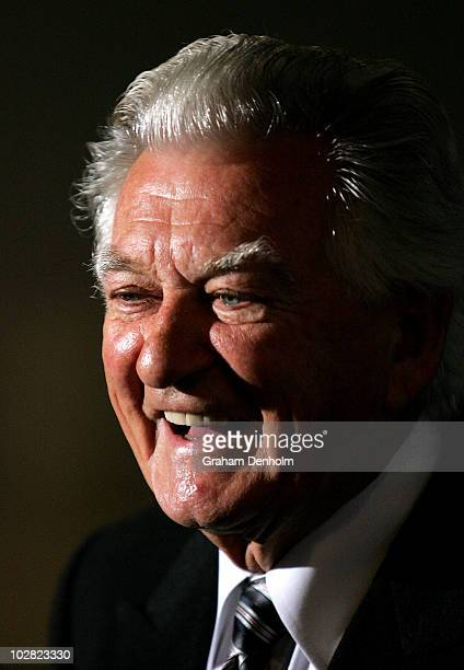 Former Australian Prime Minister Bob Hawke looks on during the launch of his biography 'Hawke The Prime Minister' at The Wharf on July 12 2010 in...