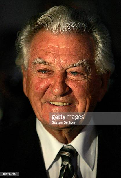 Former Australian Prime Minister Bob Hawke looks on during the launch of his biography Hawke The Prime Minister at The Wharf on July 12 2010 in...