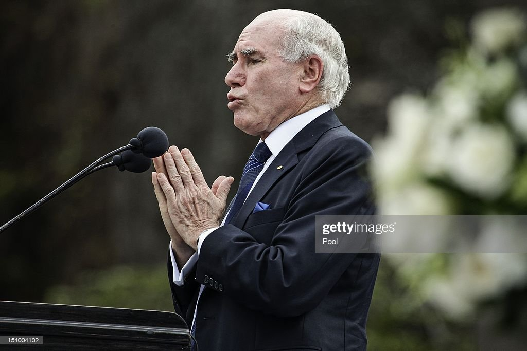 Former Australian Prime Minister John Howard delivers his speech during the Bali Bombing 10th anniversary memorial service at Garuda Wisnu Kencana on October 12, 2012 in Jimbaran, Bali, Indonesia. Thousands of family members, friends and general public gathered to remember the victims of the 2002 Kuta nightclub bombings which killed 202 people, including 88 Australians.