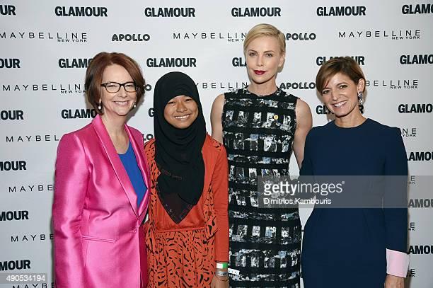 Former Australian Prime Minister Julia Gillard Girl ambassador from Plan International Nurfahada Founder of Charlize Theron Africa Outreach Project...