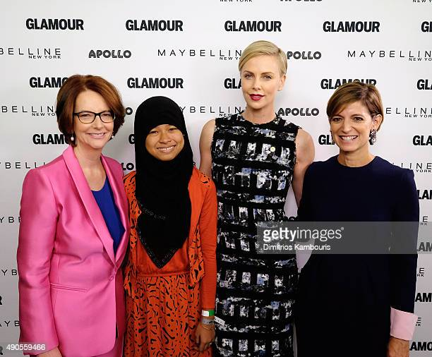 Former Australian Prime Minister Julia Gillard Girl ambassador from Plan International Nurfahada Founder of Charlize Theron Africa Outreach Project...