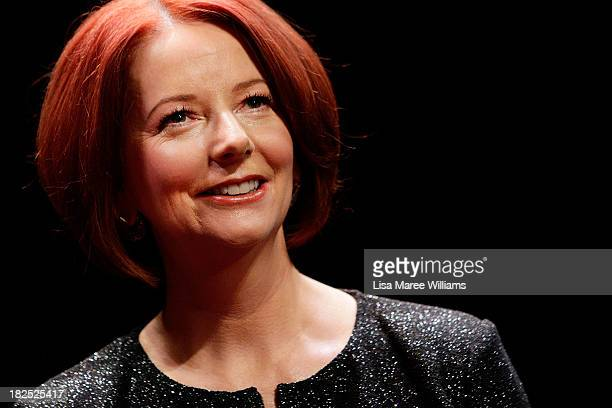Former Australian Prime Minister Julia Gillard poses for a photo ahead of the inaugural 'Anne Summers Conversations Session' at the Sydney Opera...