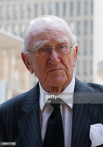 Former Australian Prime Minister Malcolm Fraser arrives at the state memorial service for former Australian Prime Minister Gough Whitlam at Sydney...