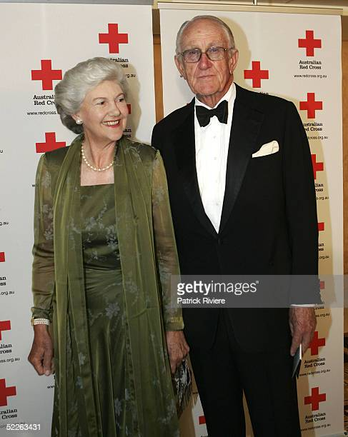 Former Australian Prime Minister Mr Malcolm Fraser and his wife Tamie attend the Australian Red Cross 90th Anniversary Gala at the Westin Hotel March...