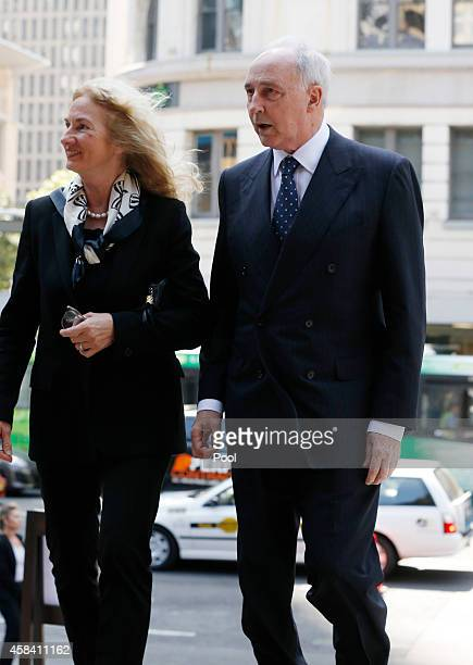 Former Australian Prime Minister Paul Keating and his former wife Annita arrive at the state memorial service for former Australian Prime Minister...