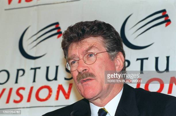 Former Australian rugby union coach Bob Dwyer announces his new career as a TV rugby expert during a press conference in Sydney 19 October 1995 The...