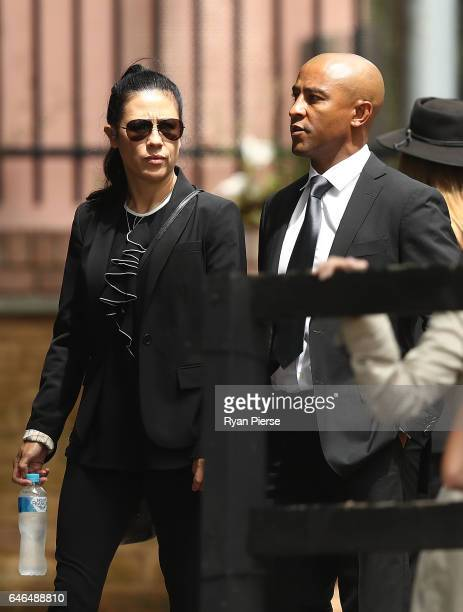 Former Australian Rugby Union player George Gregan arrives for the Public Memorial for former Australian Rugby Union player Dan Vickerman at Sydney...