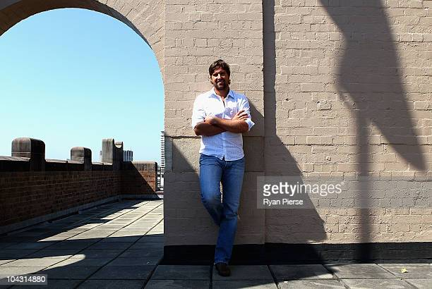 Former Australian tennis player Pat Rafter poses after an announcement at Events NSW on September 21 2010 in Sydney Australia The ATP Champions Tour...