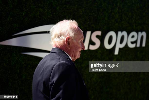 YORK Former Australian tennis player Rod Laver walks around the US Open grounds during Arthur Ashe Kids' Day at USTA Billie Jean King National Tennis...