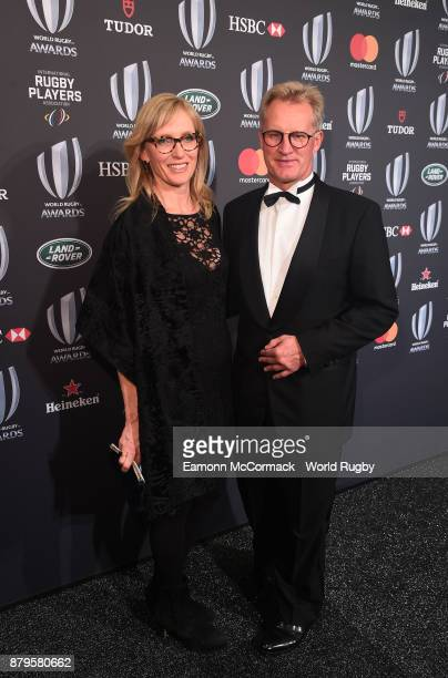 Former Australian Wallaby Michael Lynagh and his wife Isabella attend the World Rugby Awards 2017 in the Salle des Etoiles at MonteCarlo Sporting...