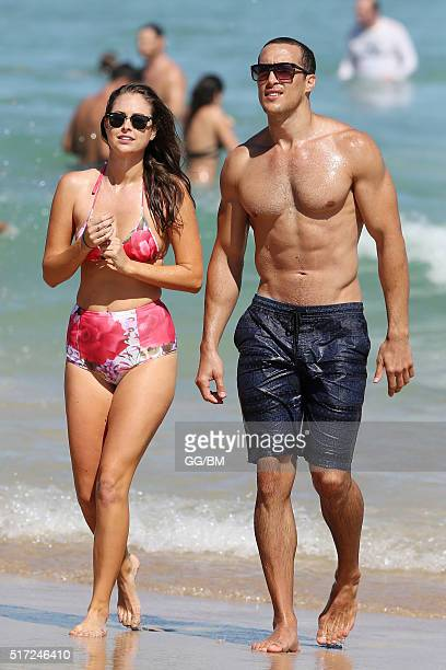Former Bachelorette Lana JeavonsFellows spotted on the beach on March 12 2016 in Sydney Australia