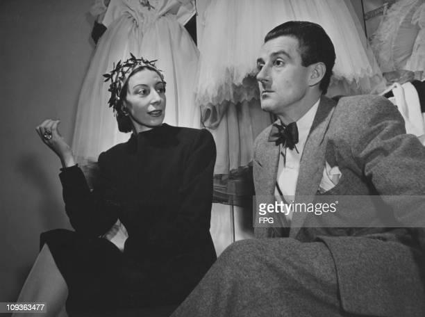 Former ballet partners Alicia Markova and Anton Dolin backstage at the Metropolitan Opera House in New York City, circa 1960.