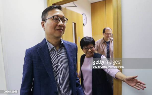 Former Bar Association Chairman Paul Lam Tingkwok attends a Commercial Radio programme in Kowloon Tong and talks about the rule of law in Hong Kong...
