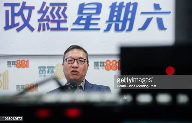 Former Bar Association Chairman Paul Lam Tingkwok attends the Commercial Radio programme in Kowloon Tong and talks about the rule of law in Hong Kong...