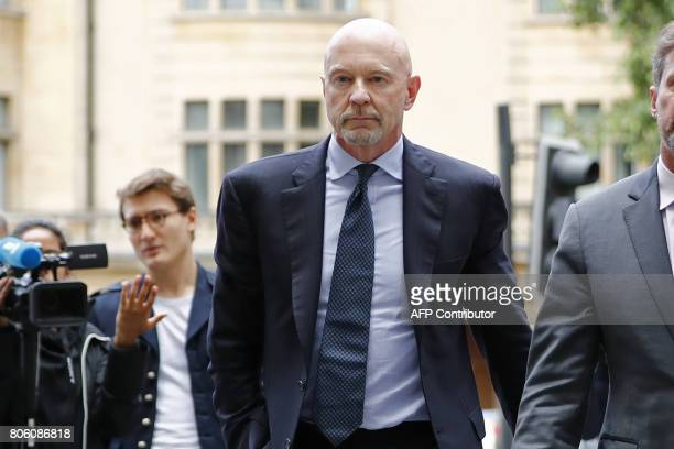 Former Barclays head of investment banking and investment management in the Middle East Roger Jenkins arrives at Westminster Magistrates Court in...