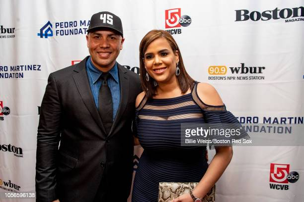 Former baseball player Carlos Beltran and his wife Jessica Lugo attend the Pedro Martinez Foundation Third Annual Gala Supporting AtRisk Youth on...