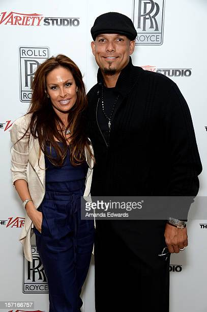 Former baseball player David Justice and Rebecca Villalobos Justice attend The Variety Studio Awards Edition held at a private residence on November...