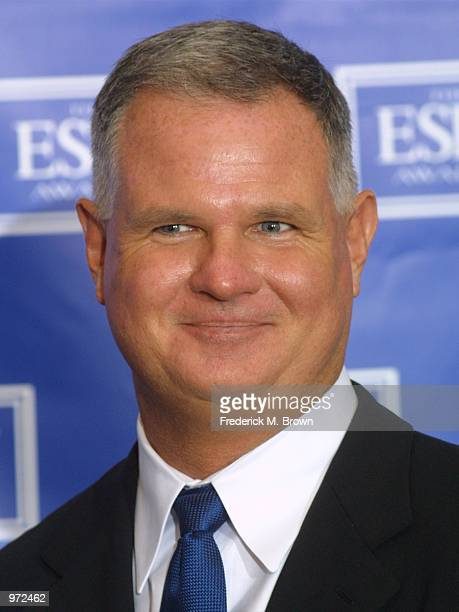 Former baseball player Jim Morris poses backstage during the 10th Annual ESPY Awards at the Kodak Theatre on July 10 2002 in Hollywood California