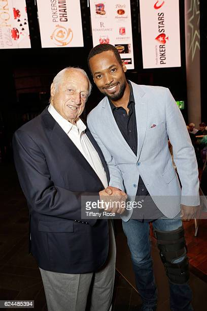 Former baseball player Tommy Lasorda and actor Anthony Montgomery attend the Los Angeles Police Memorial Foundation Celebrity Poker Tournament and...