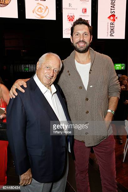 Former baseball player Tommy Lasorda and Actor Brian Thomas Smith attend the Los Angeles Police Memorial Foundation Celebrity Poker Tournament and...