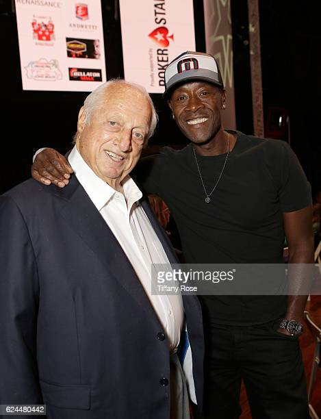 Former baseball player Tommy Lasorda and actor Don Cheadle attend the Los Angeles Police Memorial Foundation Celebrity Poker Tournament and Party...