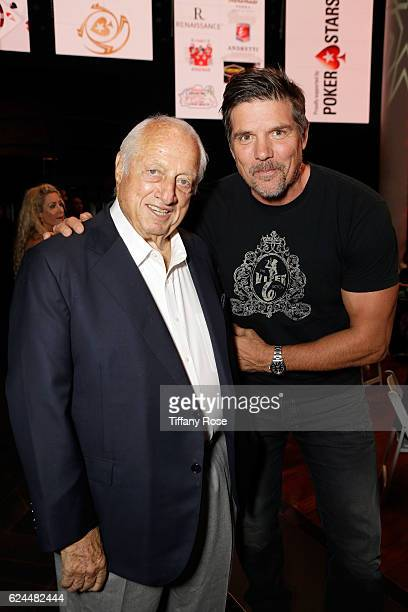 Former baseball player Tommy Lasorda and actor Paul Johansson attend the Los Angeles Police Memorial Foundation Celebrity Poker Tournament and Party...