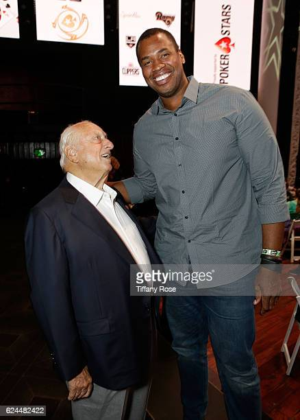 Former baseball player Tommy Lasorda and Basketball player Jason Collins attend the Los Angeles Police Memorial Foundation Celebrity Poker Tournament...