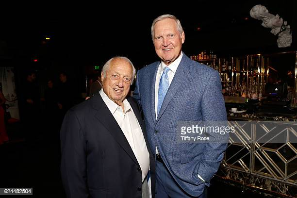 Former baseball player Tommy Lasorda and former NBA player Jerry West attend the Los Angeles Police Memorial Foundation Celebrity Poker Tournament...