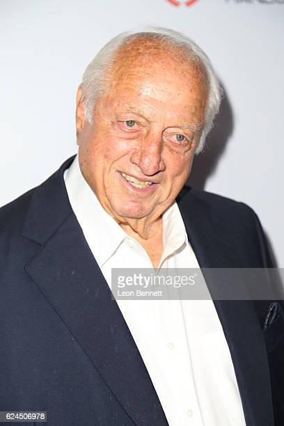 Former baseball player Tommy Lasorda arrive at the Los Angeles Police Memorial Foundation Celebrity Poker Tournament & Party - Arrivals at Avalon...
