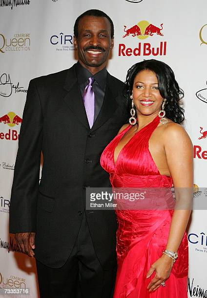 Former basketball player Eddie Johnson and his wife Joy arrive to the Behind the Benchs Annual Touching a Life Gala at the Premiere Ballroom inside...