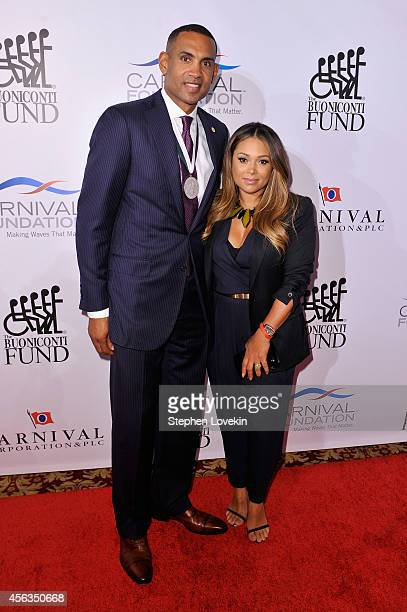 Former basketball player Grant Hill and Tamia attend the 29th Annual Great Sports Legends Dinner to benefit The Buoniconti Fund to Cure Paralysis at...