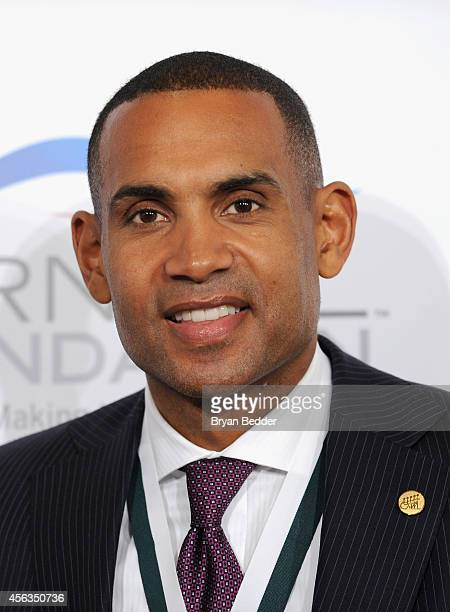 Former basketball player Grant Hill attends the 29th Annual Great Sports Legends Dinner to benefit The Buoniconti Fund to Cure Paralysis at The...