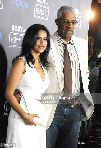 Former Basketball player Julius Erving and his wife Dorys Madden attend ESPN Magazine's 4th Annual Body issue celebration at Belasco Theatre on July...