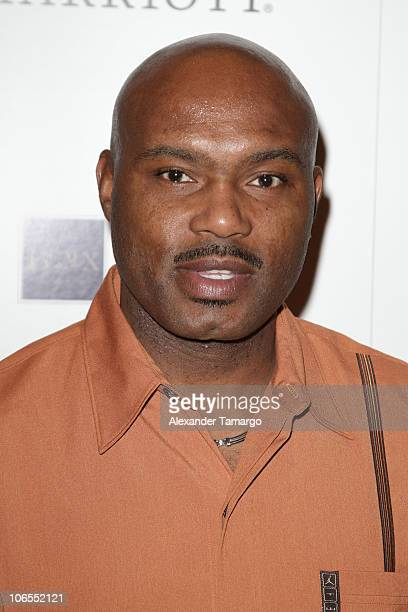 Former basketball player Tim Hardaway attends the Grand Opening Celebration of JW Marriott Marquis on November 4 2010 in Miami Florida