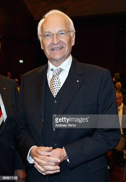 Former Bavarian Minister Edmund Stoiber attends the official birthday reception to former German Chancellor Helmut Kohl at the Pfalzbau on May 5 2010...