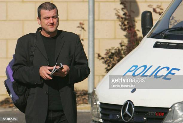 Former Bay City Rollers lead singer Les McKeown appears in court charged with conspiracy to supply cocaine August 23 2005 in Harlow England McKeown...