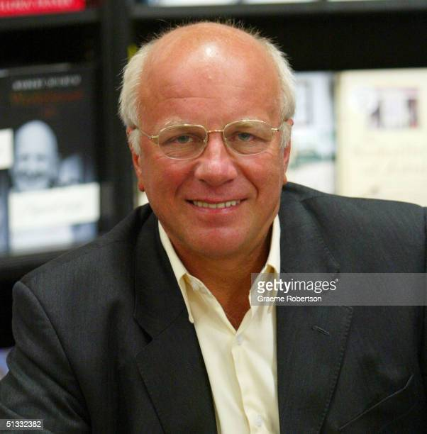 Former BBC director general Greg Dyke attends a book signing to mark the publication of his memoirs Inside Story September 21 2004 in London England