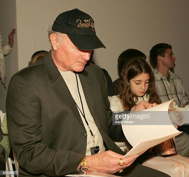 Former Beach Boy Mike Love his daughter Ambha attend attends the Shakti By Jacquelyne Love Fall 2005 show during the MercedesBenz Fashion Week at...
