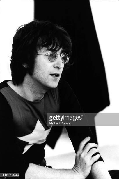 Former Beatle John Lennon at his home Tittenhurst Park near Ascot Berkshire July 1971