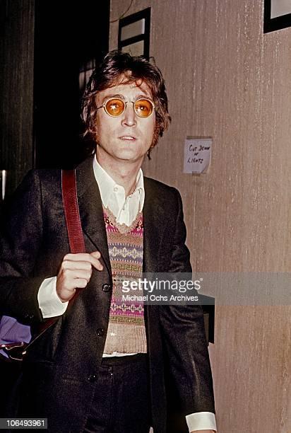 Former Beatle John Lennon poses for a photo circa 1973 in New York City, New York.