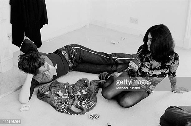 Former Beatle John Lennon with his wife Yoko Ono at his home Tittenhurst Park near Ascot Berkshire July 1971