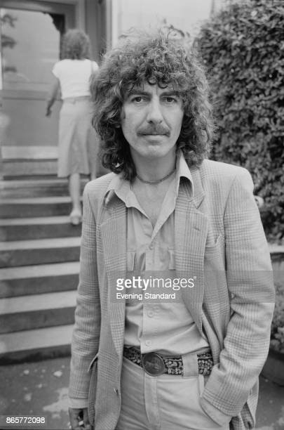 Former Beatle musician George Harrison pictured a few days after the birth of his son Dhani UK 4th August 1978
