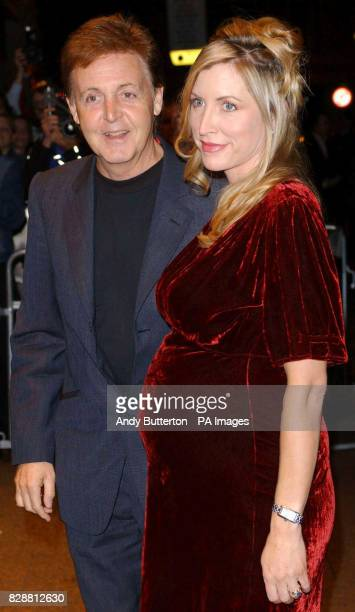 Former Beatle Paul McCartney and wife Heather MillsMcCartney arrive for the DVD screening of A Concert For George at Odeon West End in central London...