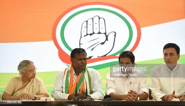 Former Bharatiya Janata Party leader and MP Udit Raj joins Congress in the presence of Delhi Pradesh Congress Committee President Sheila Dikshit...