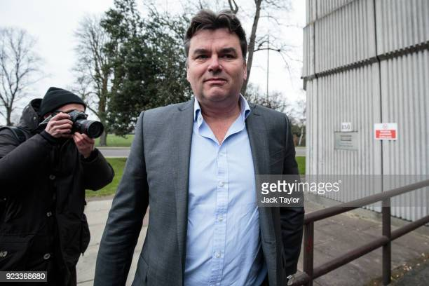 Former BHS owner Dominic Chappell arrives for sentencing at Barkingside Magistrates Court on February 23 2018 in Barking England Mr Chappell who was...