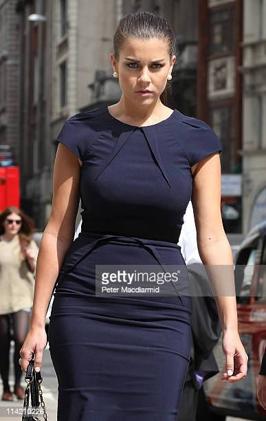 Former Big Brother contestant Imogen Thomas arrives at the High Court on May 16 2011 in London England Ms Thomas has failed in her attempt to get an...