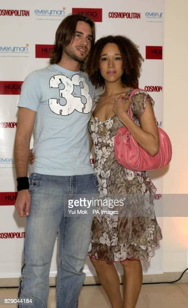 Former Big Brother housemates Alex Sibley and Melanie Hill arrive for Cosmopolitan magazine's Naked Male Centrefolds Party 2004 at the M&C Saatchi in...