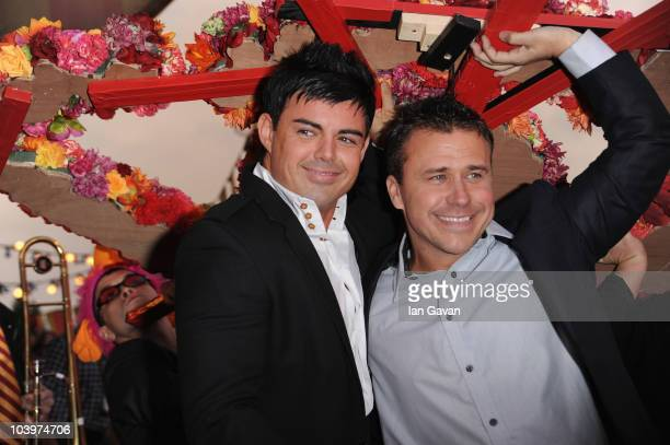 Former Big Brother winners Anthony Hutton of Big Brother 6 and Craig Phillips of Big Brother 1 attend the final of Ultimate Big Brother on September...
