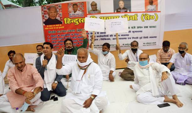 IND: Former Bihar Chief Minister Jitan Ram Manjhi Protest Against State Governments Allegedly Poor Facilities In Quarantine Centers